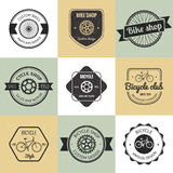 Set of  bicycle shop logo Royalty Free Stock Images