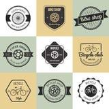Set of  bicycle shop logo Royalty Free Stock Images
