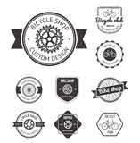 Set of  bicycle shop logo Stock Image