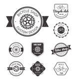 Set of  bicycle shop logo Stock Image