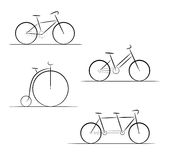 Set of bicycle silhouette Royalty Free Stock Photos