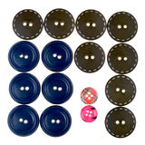 Set of bid and small buttons Royalty Free Stock Photography