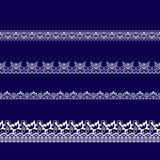 Set biel koronki faborki Fotografia Stock