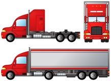 Set big american truck Royalty Free Stock Photos