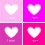 Set of Big beautiful Hearts Royalty Free Stock Images