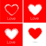 Set of Big beautiful Hearts Royalty Free Stock Photography