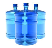 Set of big bottles of water Stock Photo