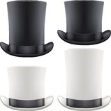 Set of big gentleman hat cylinder. Vector Royalty Free Stock Images