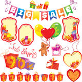 Set Big Sale elements for design - colorful gift b Royalty Free Stock Image