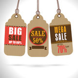 Set of Big Sale Tags or Labels design. Royalty Free Stock Images