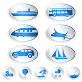 Travel labels, logos and stickers. Set of big and small labels, logos and stickers on travel Stock Photo