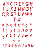 Set of big and small letters and figures. For halloween design Royalty Free Stock Image