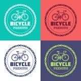 Set of Bike station Royalty Free Stock Photos