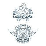 Set of biker vector badges Stock Photo