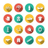 Set of Biking Icons Stock Photography