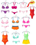 Set of bikini and bra Royalty Free Stock Photos