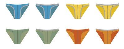 Set of Bikini Men Underwear. Isolated on white background Royalty Free Stock Photography