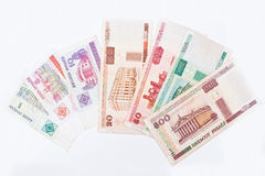 Set of bill  Belarus money, circa 2000 Royalty Free Stock Photos