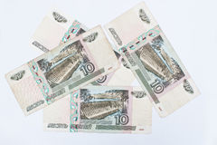 Set of Bill 10 of Russia roubles money, circa 1997 Stock Image