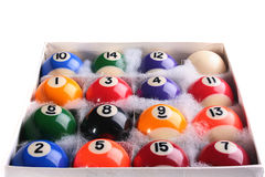 Set of billiard ball Royalty Free Stock Photography