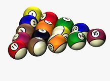 Set of billiard balls Stock Images