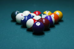 A set of Billiard balls. Billiard balls on the table Stock Images
