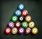 Set of Billiard Balls Stock Image