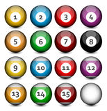 Set of Billiard Balls Royalty Free Stock Images