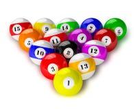 Set of billiard pool balls on white Royalty Free Stock Image