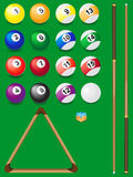 Set for billiards Royalty Free Stock Photography