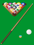 Set for billiards. Illustration Royalty Free Stock Image
