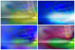 Set of  binary backgrounds Royalty Free Stock Photography