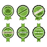 Set of bio badges Royalty Free Stock Photos