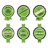 Set of bio badges. /Set of green  organic/ECO badges Royalty Free Stock Photos