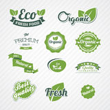 Set of bio, eco, organic elements Stock Images