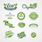 Set of bio, eco, organic elements Stock Images