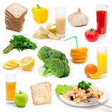 Set of bio food Stock Photography