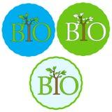 Set of bio icons Stock Images