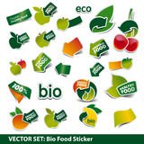 Set of bio price tags Royalty Free Stock Photo