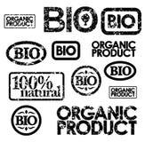Set of  bio stamps Stock Photo