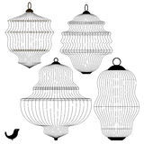 Set of Bird Cages  Stock Image