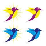 Bird. A set of bird  icons Royalty Free Stock Image