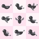 Set of  bird icons Royalty Free Stock Photo