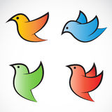 Set of  bird icons Royalty Free Stock Photos