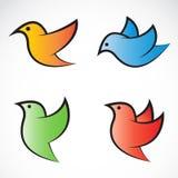 Set of bird icons. On white background Vector Illustration