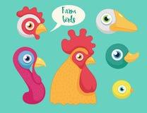 Set of the birds farm Royalty Free Stock Photography