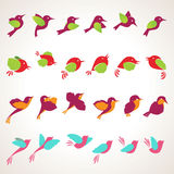 Set of birds illustrations Stock Photo