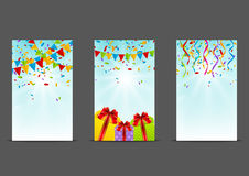 Set of Birthday banners Stock Photo