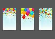 Set of Birthday banners Royalty Free Stock Photography