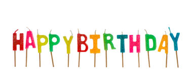Set of birthday candles Royalty Free Stock Images